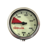 Hollis Brass Pressure Gauge
